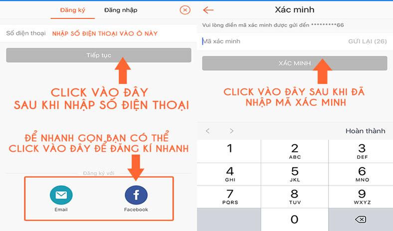 Hướng dẫn 3 cách đăng ký tài khoản Shopee trên ứng dụng - Gmail, Facebook và Số điện thoại