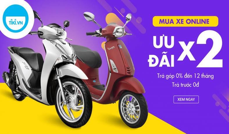 Hướng dẫn cách mua xe máy online trả góp 0% trên Tiki