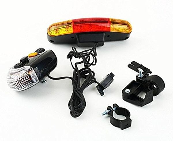 Đèn Led xe đạp thể thao có còi - Đèn trước
