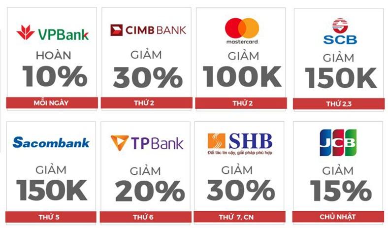 Ưu đãi đối tác ngân hàng trên Shopee - Ưu đãi thẻ tín dụng